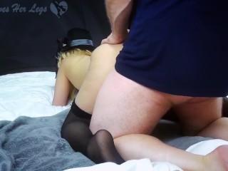 Japanese Uncensored Black Stockings Fucking POV Japanese Pussy and Feet