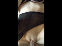 SHE THOUGHT HE WAS GAY, BUT HE TORE HER PANTYHOSE AND FUCKED HARD