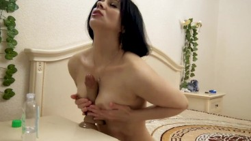 small tits on a big dildo. cum, please.