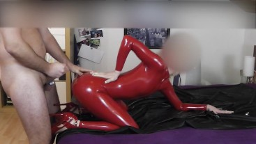 HUGE LOAD ON HER NICE LATEX ASS CUMSHOT CUMLOAD TEEN BABE STUDENT FETISH