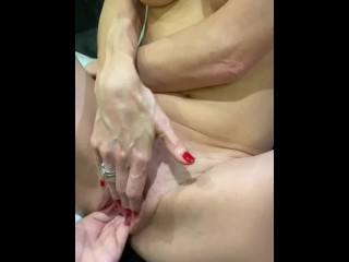 First try towards fisting, she's wet and willing