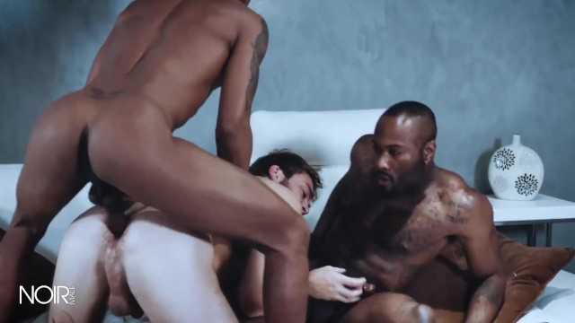Male black white anal gay Noirmale - white guy gets double teamed by bbcs