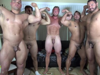 Naked party latino muscle bear house amateur fun...