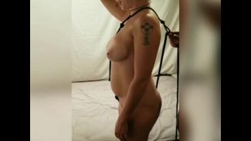 Redhead Wife Gets Rope Dress BDSM Hardcore Fucked Sucks Until Cumshot P2