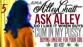 AlleyChatt ASK ALLEY 5 LINGERIE, CREAMPIES, (Clean Version)