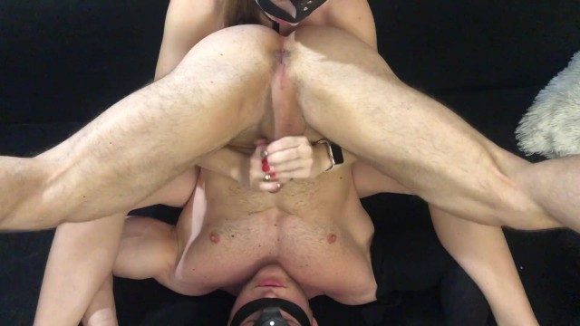 Cum in his mouth I fucked him with my tongue until he cum in his mouth
