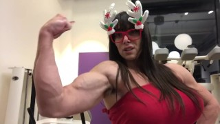 Busty hairy super muscles