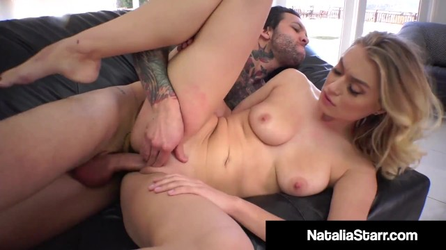 Beauty blonde fuck - Cock fucked beauty natalia starr slides her pussy on a cock