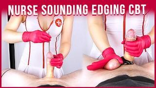 Nurse Urethral Cock Sounding & Edging Handjob to Cum POV CBT   Era