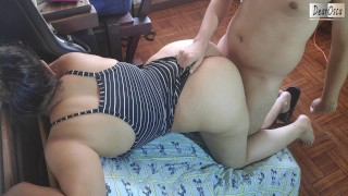 My GIRLFRIND'S SISTER BOUNCES her BIG ASS on MY COCK