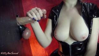 Sensual Gloryhole Edging Torture & Nail Teasing (Cumshot On Tits)
