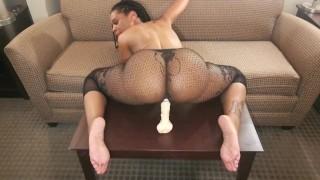 Ebony Riding Dildo | Sex Pictures Pass