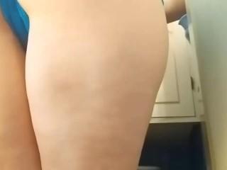 Ass farting in bathroom...