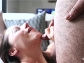 Big cumshot on my face...