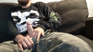 Hung stud in camo pants fucks his see through Fleshlight