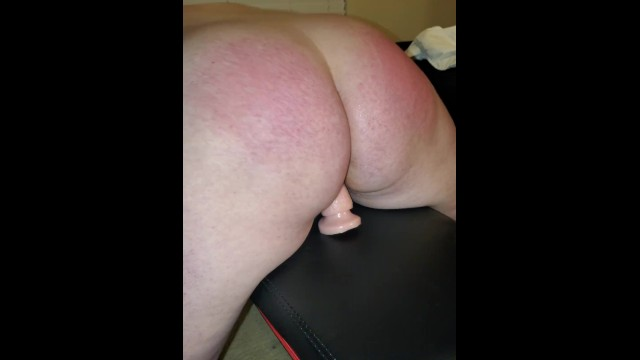 Wife tied up and being flogged while riding dildo 19