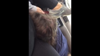 BBW EATEN AND FINGER FUCKED IN CAR