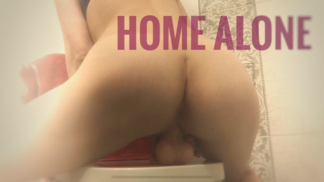 Teens with big tits round ass - Round ass babe rides dildo in bathroom