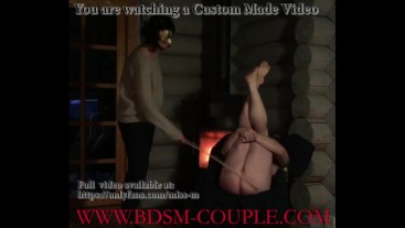 Miss M. gives slave p. the HARDEST CANING EVER!