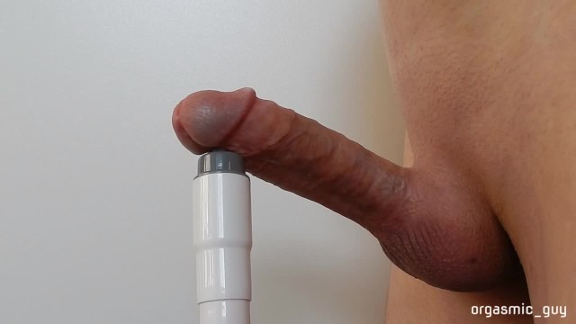 Penis reconsruction - Circumcised penis stimulated close to orgasm