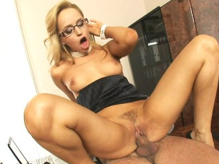 He cums two times on her job interview...