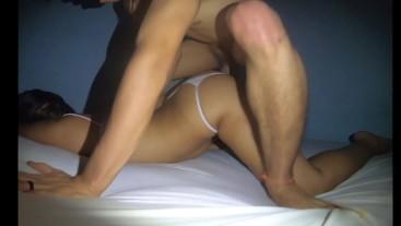 Little slut asks for hot cumshot in the ass.