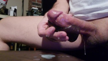 Thick load slowly milked out of my balls