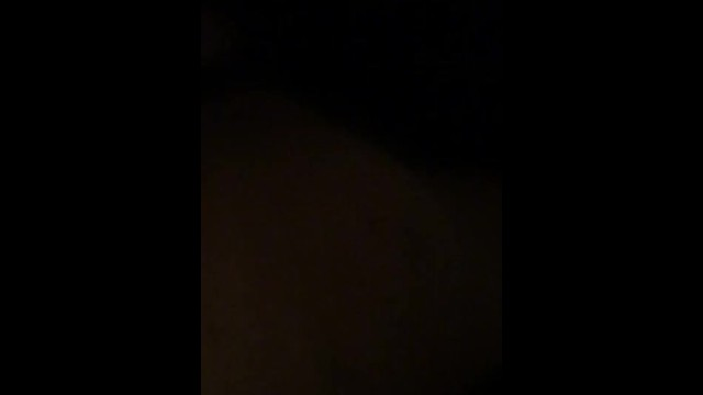 ITS DARK. FUCKING BIG BOOTY CHICK AFTER MY HOMIE NUTTED ON HER BACK 17