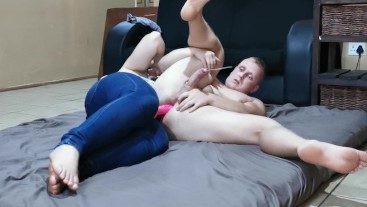 Rimjob Prostate Massage and Hard Pegging Fuck Perfect Cumshot