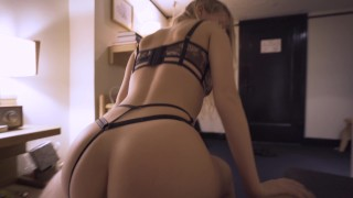 Perfect Ass Escort Girl comes to my hotel room - morningpleasure