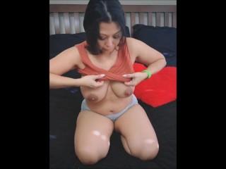 Krystal davis unboxing amazon wishlist gifts topless showing...