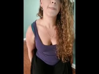 Horny Ginger Milf Sits On a Dildo
