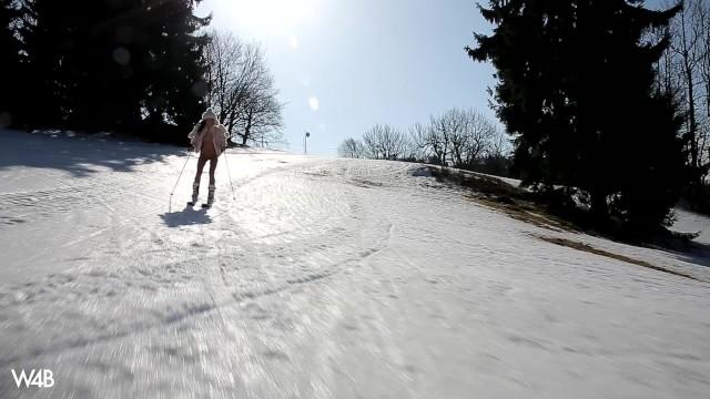 W4B Petitte Czech Teen Sapphira Naked Winter Skiing 1