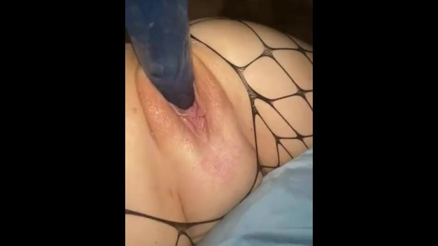 Sexy milf gets fucked with a dildo and squirts everywhere 14