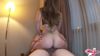 Amateur Nympho Teen Destroys BF dick with her tight pussy cowgirl