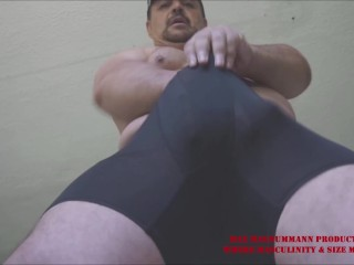 The hung stallion spandex bulge beefy body a...