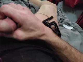 CD Michelle Jacking in Black Lingerie Cum everwhere Part1