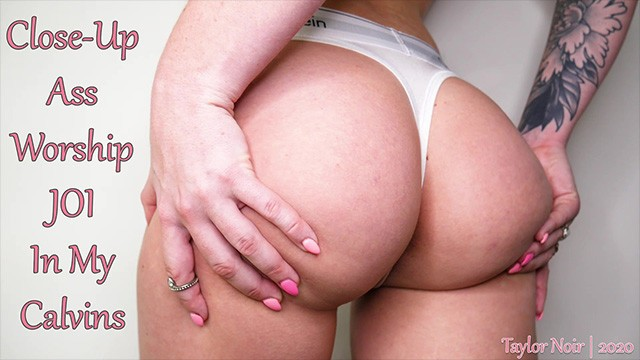 Adriannes pantyhose and closed Close-up ass worship joi in my calvins