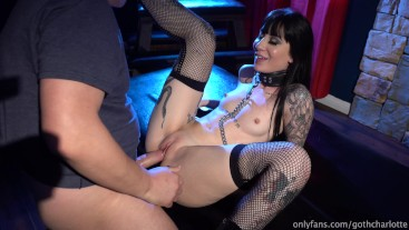 4K charlotte sartre collared and cum on ass (full)