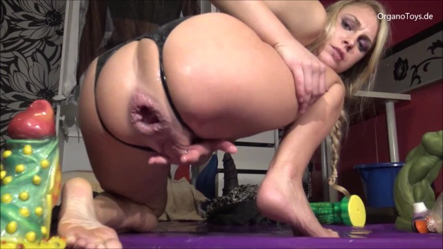 Blonde dildo solo Wrecking my asshole with the abradrachabra dildo, it fucks me so good