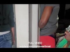 SHEMALE TRICKS DOOR DASH WORKER TO WATCH HER COCK SUCK