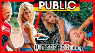 Missy Luv's FIRST Public Fuck EVER! Hitzefreidating