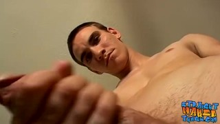 Straight dude masturbates and uses various sex toys