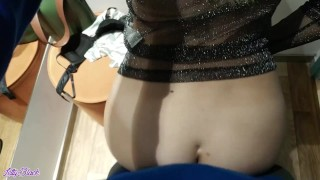Caught In The Dressing Room During a Blowjob - Letty Black