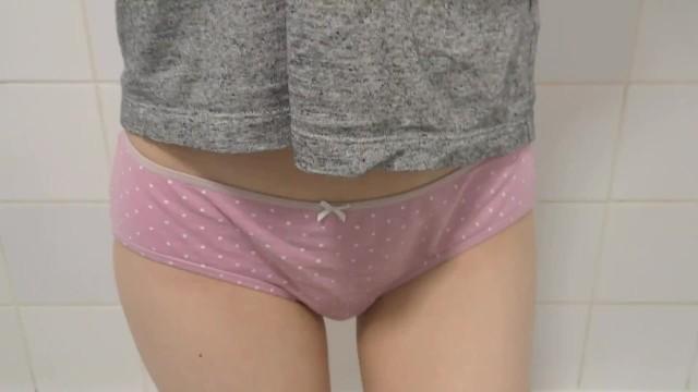 Oops amateur panties So desperate she cant pee wetting my pink panties... oops