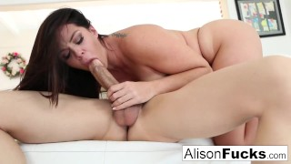 Sexy Alison Tyler takes on fat dick from Bruce Venture!