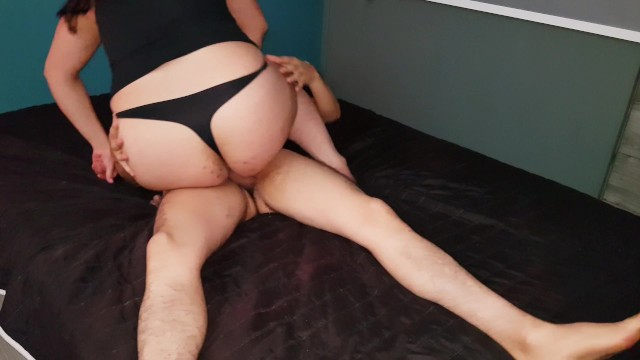 Mexican big butt slut is cowgirl fuck for a latin dick in black lingerie 16