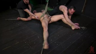 Kinky Viktor Edged Until He Shoots Fat Ropes of Cum