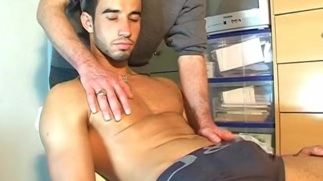 Huge cock gay porn clips - Young delivery guy gets massaged his huge dick in porn in spite of him