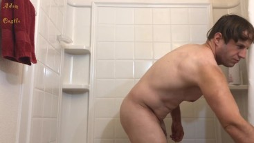 Post Body Shaved Stud In Shower Voyeur